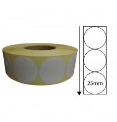 25mm Diameter Thermal Transfer Labels