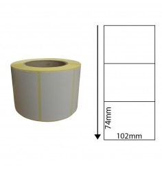 102 x 74mm Thermal Transfer Block-Out Labels