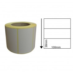 100 x 38mm Thermal Transfer Block-Out Labels