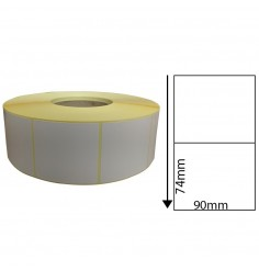 90 x 74mm Thermal Transfer Block-Out Labels