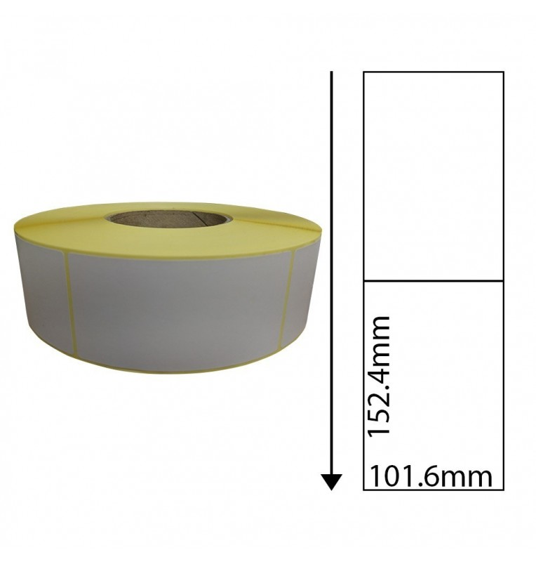 101 6mm x 152 4mm Direct Thermal Labels with Perforations