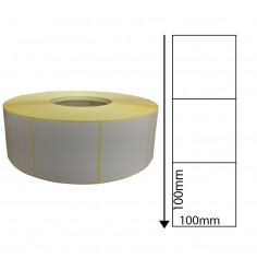 Zebra GX430t - 100mm x 100mm Perforated Direct Thermal Labels