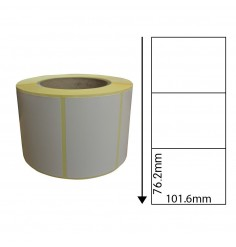 101.6mm x 76.2mm Thermal Transfer Labels with Perforations