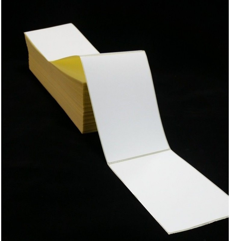 4x6 Thermal Transfer Labels Fan Folded (1,000)
