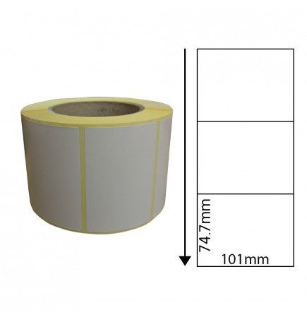 101mm x 74.7mm Thermal Transfer Labels with Perforations