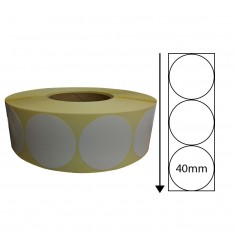 40mm Diameter Thermal Transfer Labels