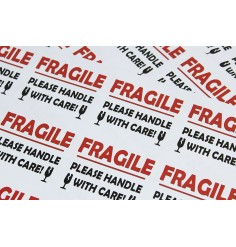 FRAGILE PLEASE HANDLE WITH CARE labels / stickers 12 per sheet! Perm Adhesive (10 Sheets)