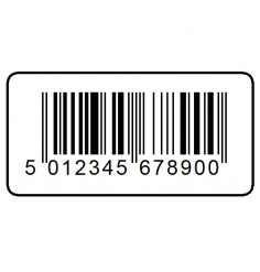 EAN 13 Printed Barcode Labels