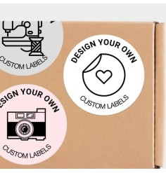 40mm Circle Design Your Own Label