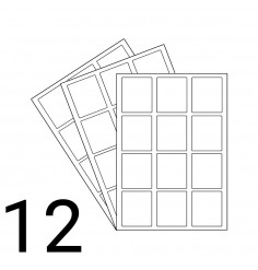 A4 Laser Sheet - 12 Labels Per Sheet - 500 Sheets