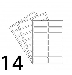 A4 Laser Sheet - 14 Labels Per Sheet - 500 Sheets