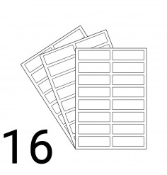 A4 Laser Sheet - 16 Labels Per Sheet - 500 Sheets