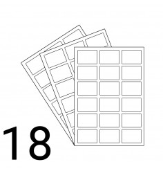 A4 Laser Sheet - 18 Labels Per Sheet - 500 Sheets