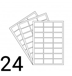 A4 Laser Sheet - 24 Label Per Sheet - 500 Sheets