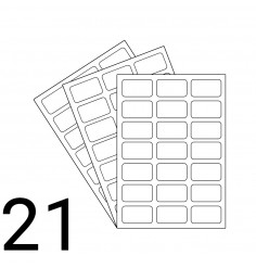 A4 Laser Sheet - 21 Label Per Sheet - 500 Sheets