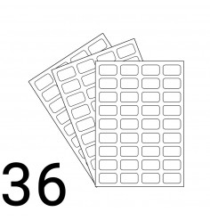 A4 Laser Sheet - 36 Label Per Sheet - 500 Sheets
