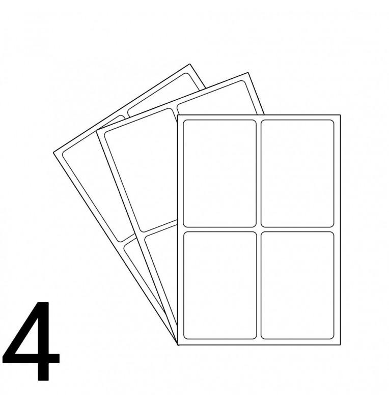 a4 laser sheet 4 labels per sheet