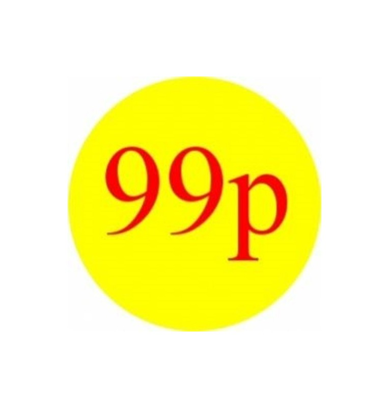 99p Promotional Label - Qty 1,000