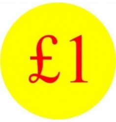 £1 Promotional Label - Qty 1,000