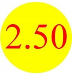 2.50 Promotional Label - Qty 1,000