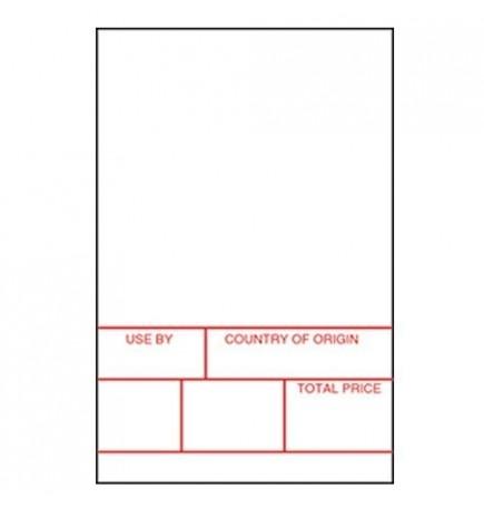 Avery Berkel Format 1 Scale Labels - 49mm x 74mm - 20 rolls / 10,000 labels