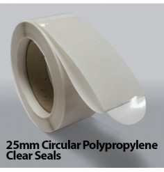 25mm Circular Polypropylene Clear Seals (5,000)