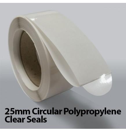 25mm Circular Polypropylene Clear Seals (10,000)