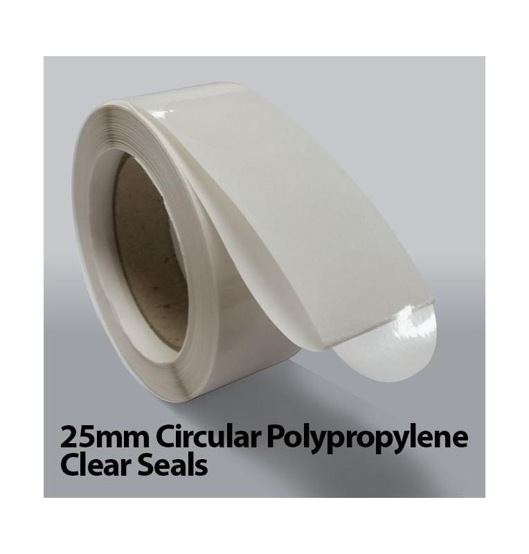 25mm Circular Polypropylene Clear Seals (1,000)