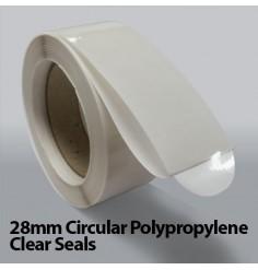 28mm Circular Polypropylene Clear Seals (5,000)