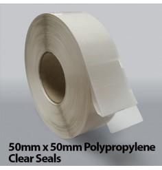 50mm x 50mm Polypropylene Clear Seals (10,000)