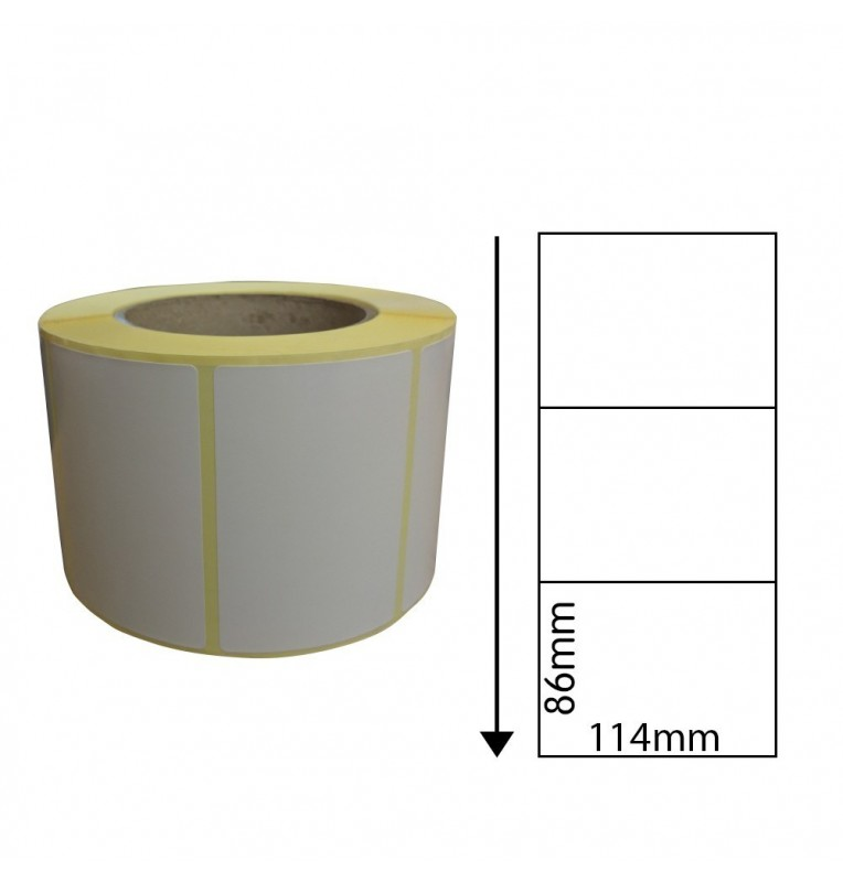 114mm x 86mm Direct Thermal Labels (1,000 Labels)