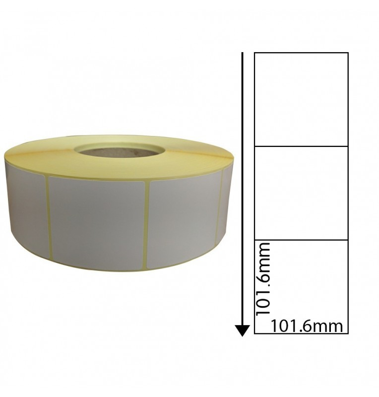 101.6mm x 101.6mm Perforated Direct Thermal Labels (1,000 Labels)