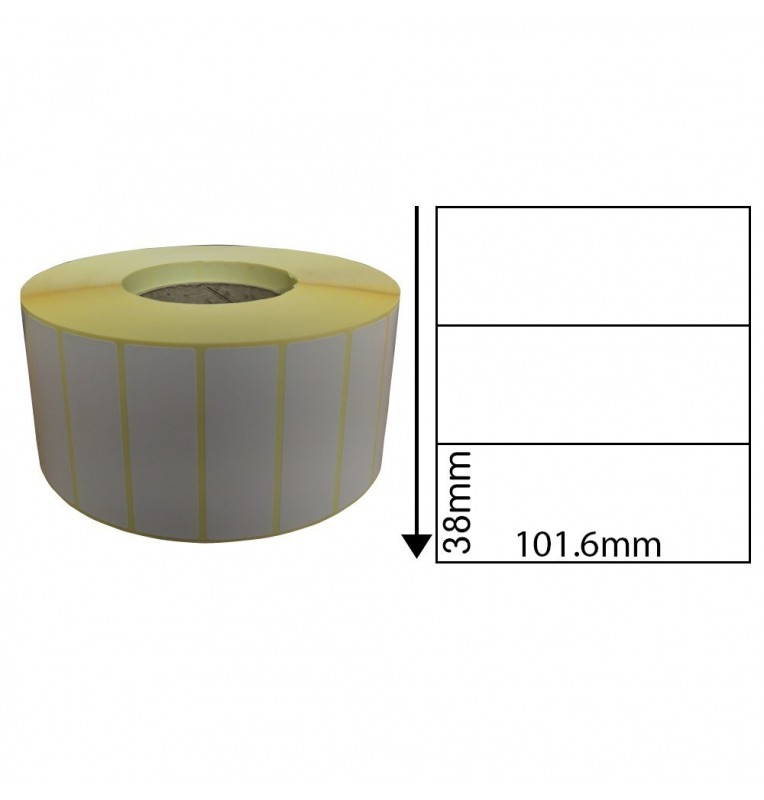 101.6mm x 38mm Direct Thermal Labels (1,000 Labels)