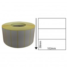 102mm x 38mm Direct Thermal Labels (1,000 Labels)