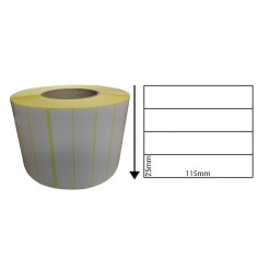 115mm x 25mm Direct Thermal Labels (1,000 Labels)