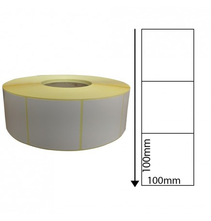 100 x 100mm Perforated Thermal Transfer Labels