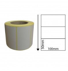 100 x 50mm Thermal Transfer Labels