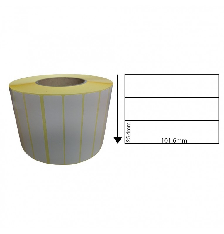101.6 x 25.4mm Thermal Transfer Labels