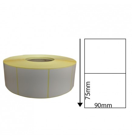 90mm x 75mm Direct Thermal Labels (1,000 Labels)
