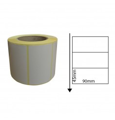 90mm x 45mm Direct Thermal Labels (1,000 Labels)