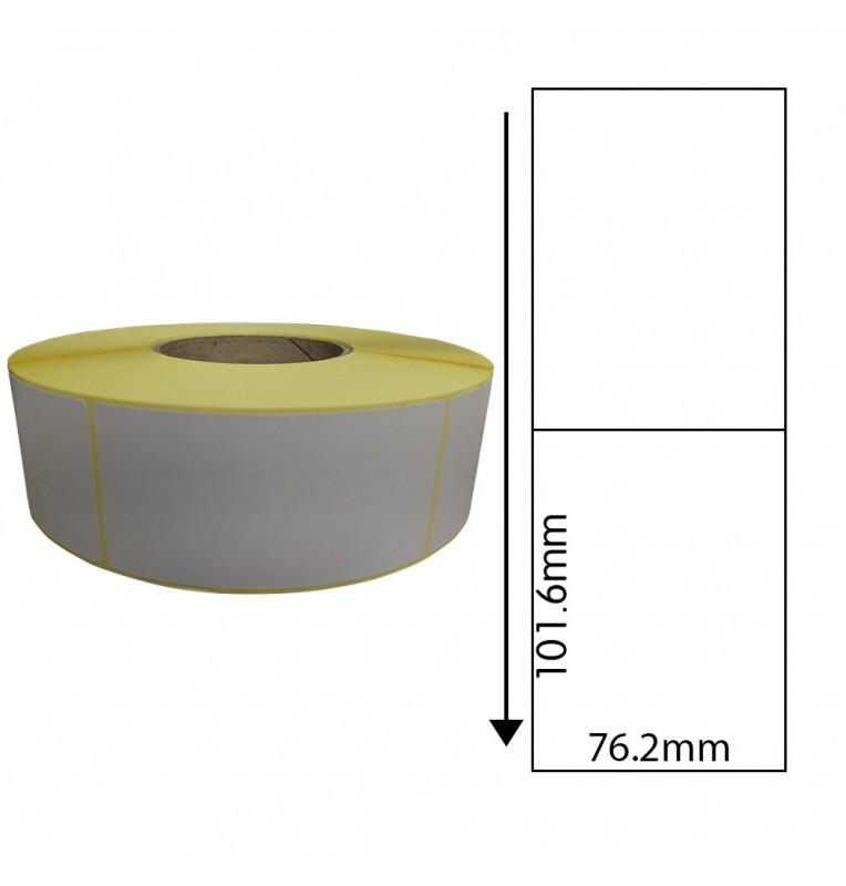 76.2mm x 101.6mm Direct Thermal Labels (1,000 Labels)