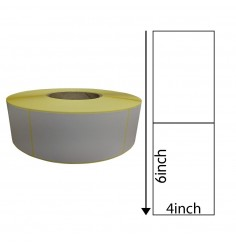 4x6 Direct Thermal Labels with Perforations