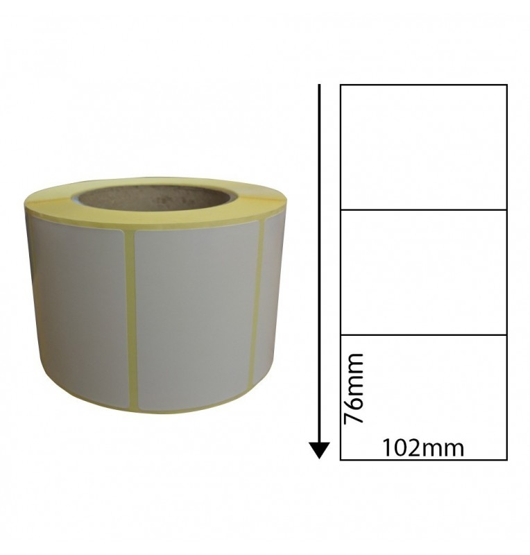 102mm x 76mm Direct Thermal Labels with Perforations