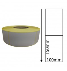 100mm x 150mm Thermal Transfer Labels with Perforations