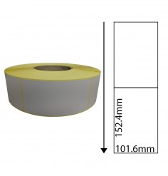 101.6mm x 152.4mm Direct Thermal Shipping Labels with Perforations (1,000 Labels)