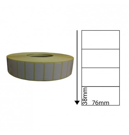 76mm x 38mm Direct Thermal Labels (1,000 Labels)