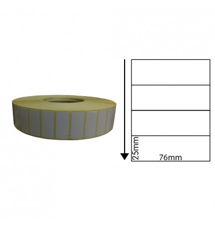 76mm x 25mm Direct Thermal Labels (1,000 Labels)