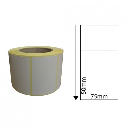 75mm x 50mm Direct Thermal Labels (1,000 Labels)