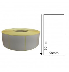 58mm x 60mm Direct Thermal Labels (1,000 Labels)