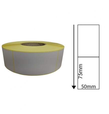 50mm x 75mm Direct Thermal Labels (1,000 Labels)